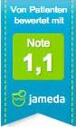 Jameda Bewertung Gesamtnote 1,1